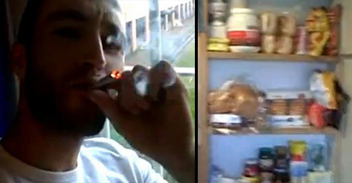 UNILAD prisoner joint 3011152259 Prisoner Gives Tour Of His Luxury Cell While Smoking Spliff