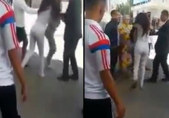 UNILAD women dragged WEB81296 Scandalously Dressed Women Surrounded And Attacked By Angry Mob