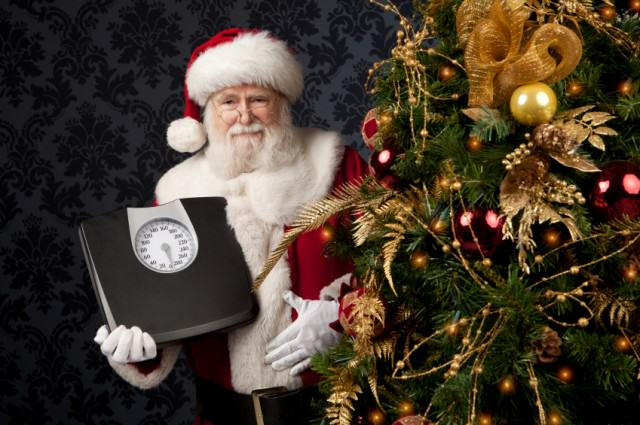 Santa with scales 640x425 This Is How Many Calories Youll Consume Over Christmas And New Year