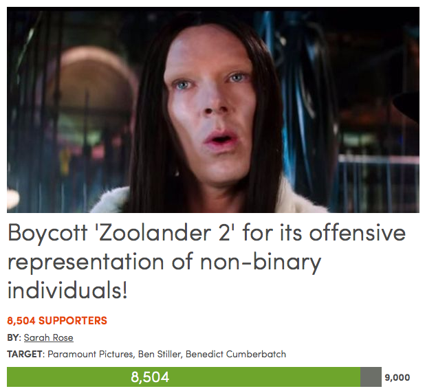 Screen Shot 2015 11 22 at 23.36.51 Petition Calls For Boycott Of Zoolander 2 Over Benedict Cumberbatchs Transphobic Character