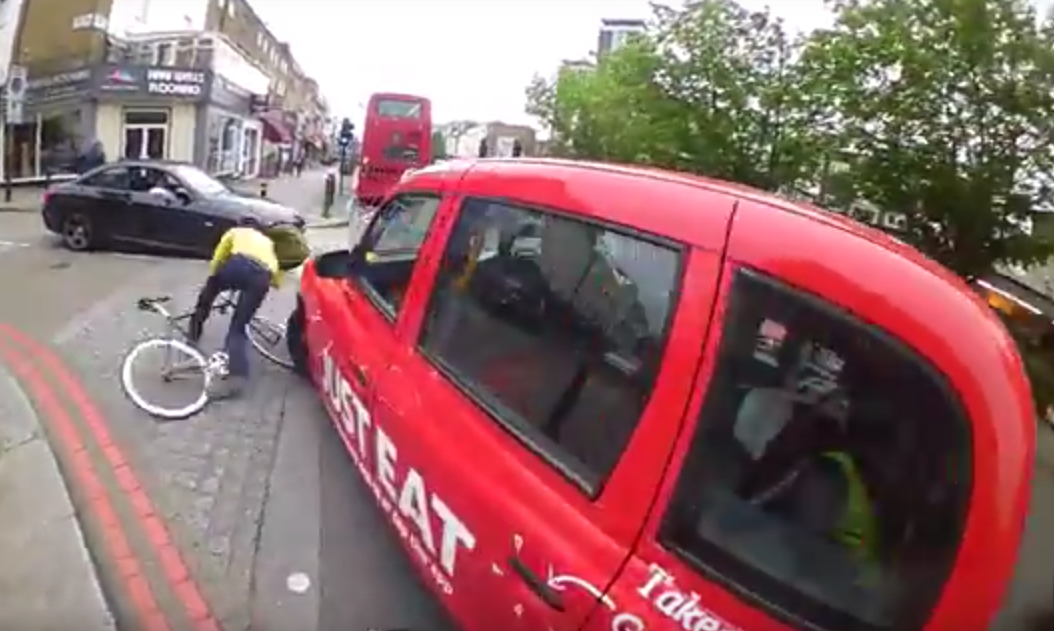 Screen Shot 2015 11 25 at 00.14.38 Online Debate Rages After Cyclist Is Knocked Off His Bike By Taxi