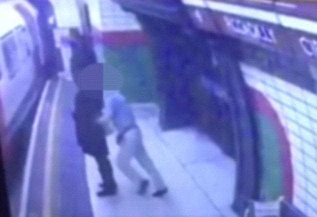 UNILAD 149374 Shocking Footage Shows Man Push Young Woman Into Oncoming Tube Train