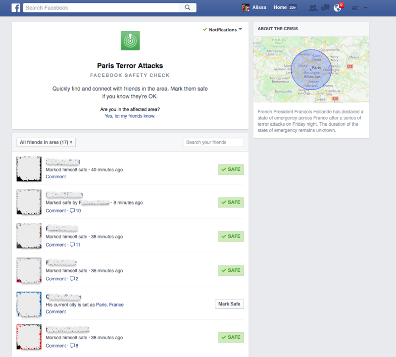 UNILAD 151780106935037520182806 Facebook Safety Check Feature Lets People Report They Are Safe In Paris