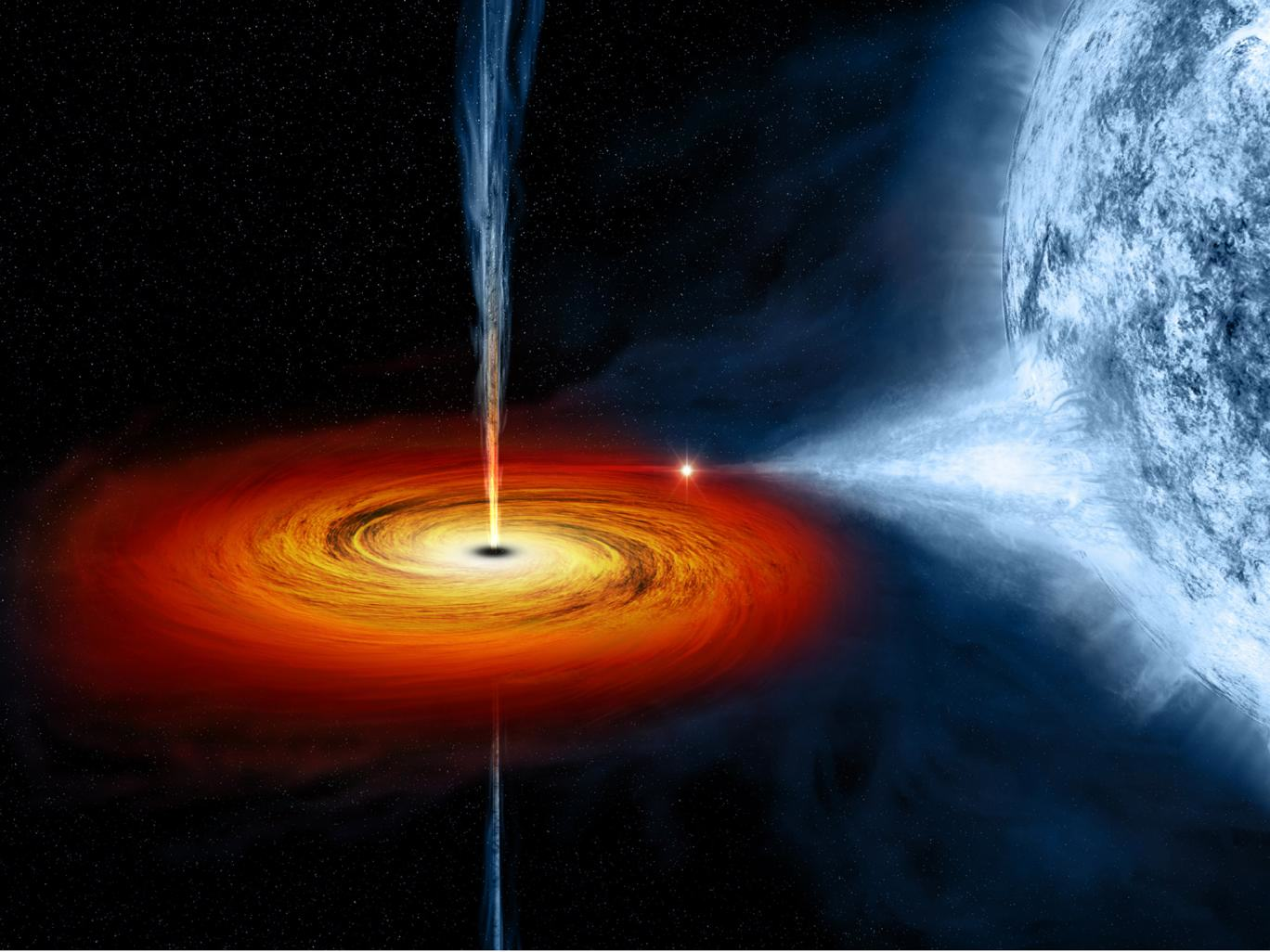 black hole2 Stunning Photo Captures Black Hole Eating Star And Puking It Back Out