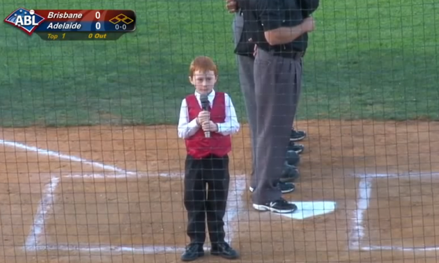 hiccups Kid Gets Hiccups Performing Australian National Anthem, Heroically Finishes Anyway