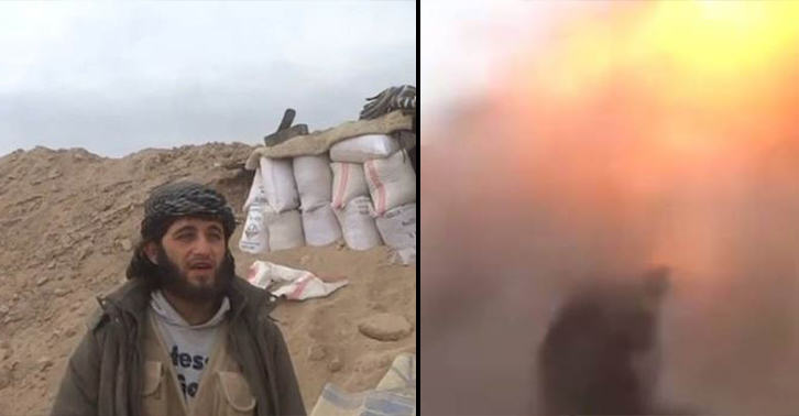 isis bomb FB Shocking Moment Islamist Jihadi Is Blown Up While Recording Propaganda Video