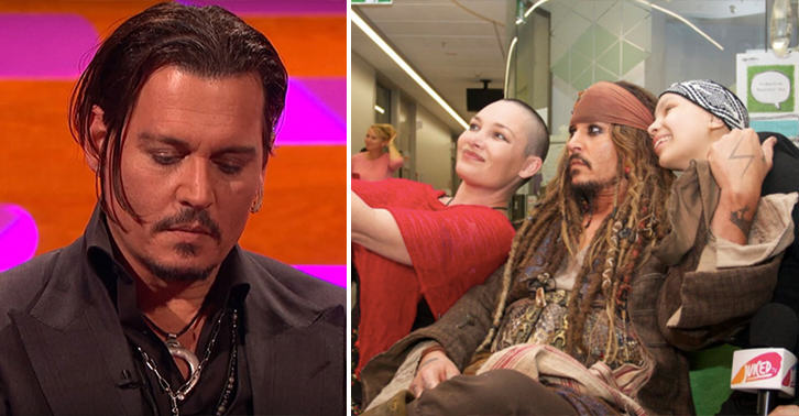 Johnny Depp Explains Why He Visits Childrens Hospitals johnny depp FB