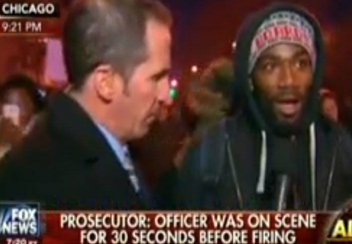 protest3 Protester Stumps Fox News With His Answers On Police Shooting