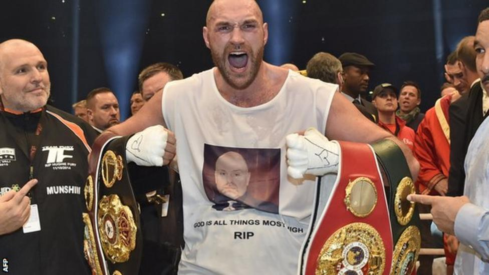 87109450 tyson fury afp2 Tyson Fury Stripped Of World Title Just Weeks After Winning It