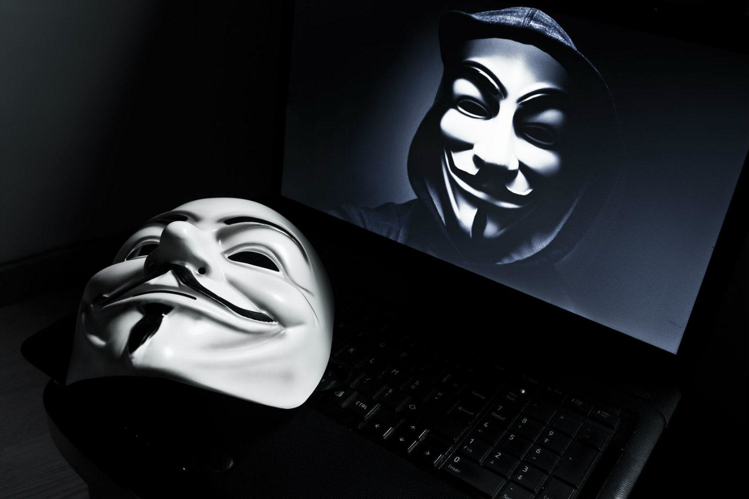 Anonymous Takes Down Nearly 100 Japanese Websites As Part Of Anti Whaling Campaign Anonymous mask and laptop