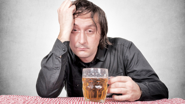Drunk man with beer via Shutterstock 615x3451 Overprotective Brothers Spike Sisters Fiancée At Christmas, Sh*t Gets Awkward