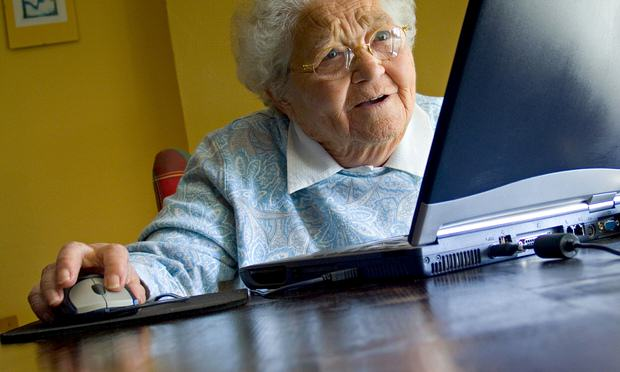 Elderly lady using her la 014 The Internet Is God Damned Amazing, And Heres Why