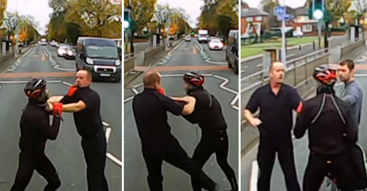 Two Grown Men Decide Best Way To Resolve Road Rage Incident Is Brawl FaceThumb 18