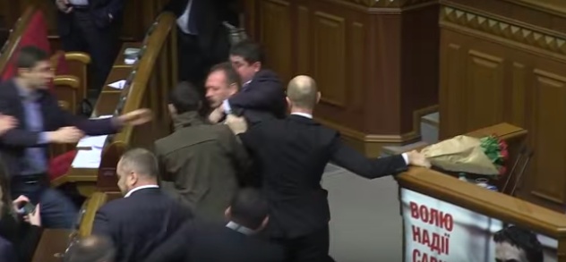 Screen Shot 2015 12 13 at 13.59.55 Politician Picks Up Ukrainian Prime Minister By Balls, Sparks Massive Fight In Parliament