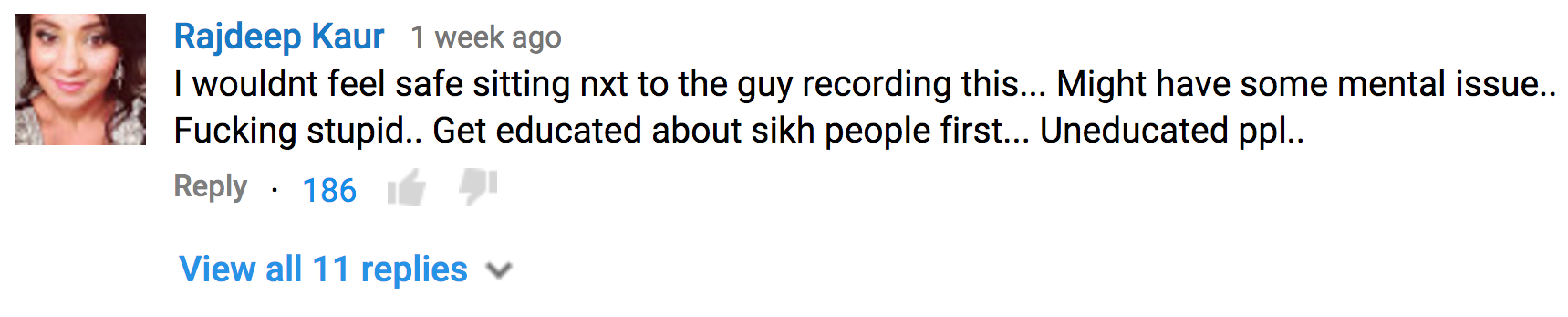 Racist Gets Comeuppance After Posting Video Of Sikh Man Online Screen Shot 2015 12 19 at 11.00.53