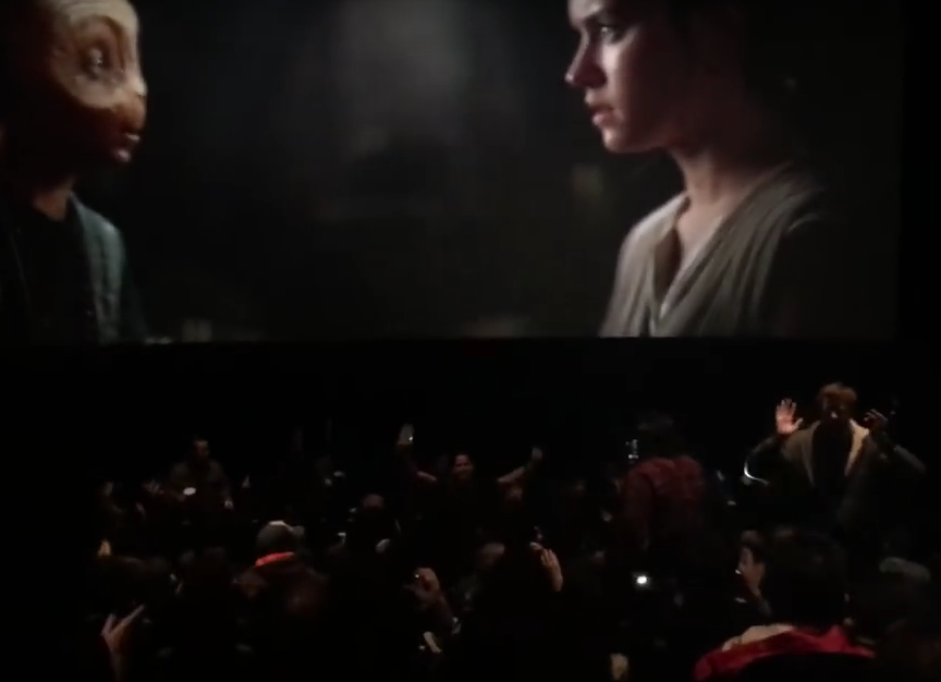 Star Wars Fans Lose Their Shit As Cinema Projector Fails Screen Shot 2015 12 20 at 20.44.28
