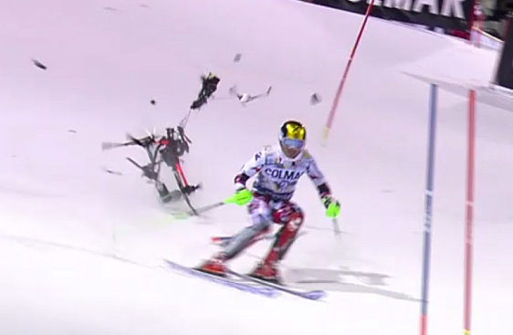 Screen Shot 2015 12 23 at 15.54.20 Skiing Champion Cheats Death By Inches As Camera Drone Falls From Sky