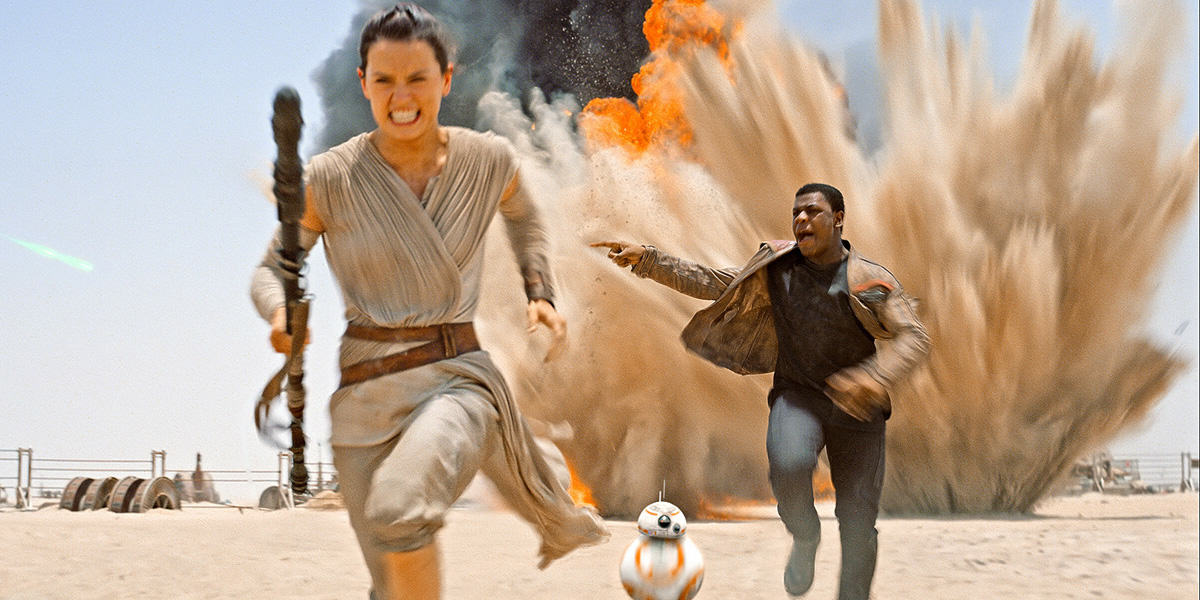Star Wars: The Force Awakens Smashes US Box Office Records Star Wars 7 Character Guide Finn Rey 1