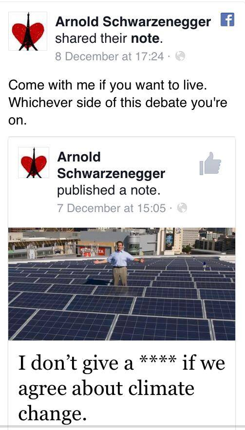 arnie cc 1 Arnold Schwarzenegger Comes Up With Perfect Way To Silence Climate Change Deniers