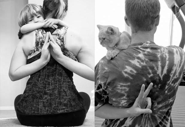 Single Guy Recreates Twin Sisters Baby Pictures And Theyre Brilliant cat compare 3 618x426