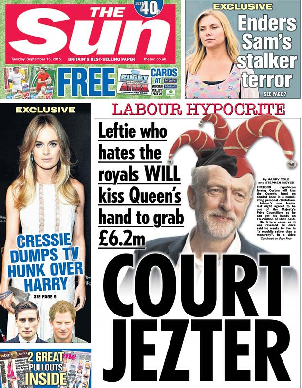 The Sun Forced To Print Front Page Apology To Jeremy Corbyn But Blink And Youll Miss It corbyn apology 1
