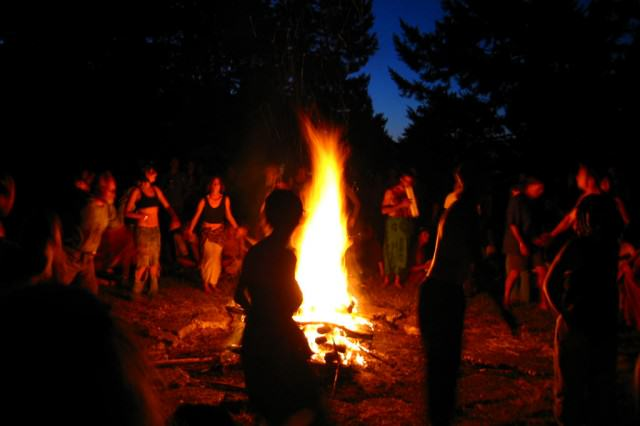 dancing around bonfire 640x426 How Christmas Was Stolen From The Pagans