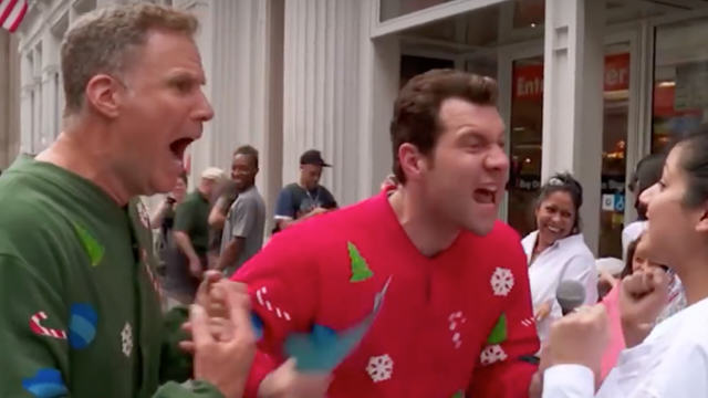 ferrell xmas Will Ferrell Scares People On Street Yelling At Them About Christmas Movies