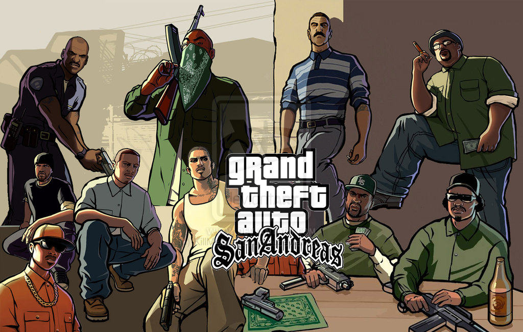 gta san andreas wallpaper by killmemothafucka d61wa4j GTA: San Andreas Just Became Available On Playstation 3 And Nobody Knew