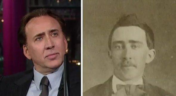 heres nic cage and his doppelganger little is known about the man besides that he supposedly served in the civil war These Pictures Show Putin Isnt The Only Immortal Famous Guy