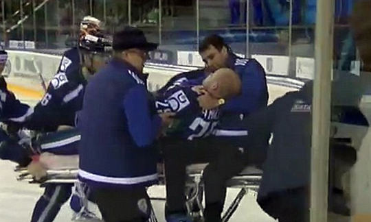 hockey31 Brutal Footage Of Ice Hockey Players Throat Getting Slashed By Skate Emerges Online