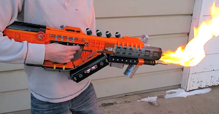 legofacebook This Guy Built A Working Black Ops 3 Flamethrower From Lego