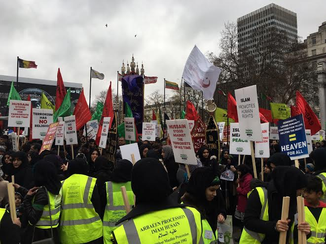 march3 Hundreds Of Muslims Flooded London To Condemn Terrorism, The Media Ignored It