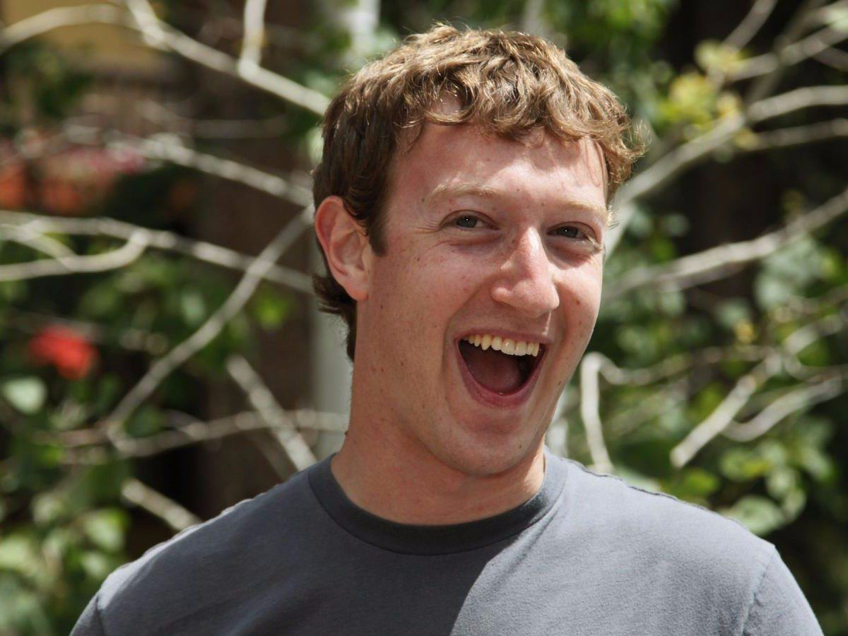 mark zuckerberg laugh