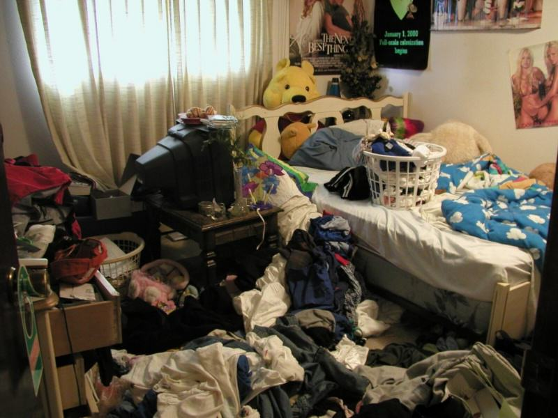 messy room How To Trick Your Mates Into Thinking You Have Your Shit Together