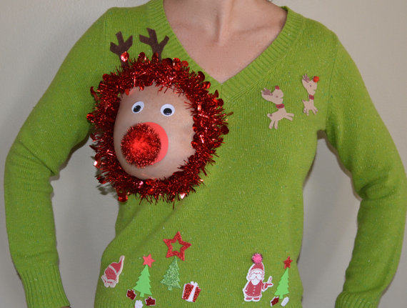 ugly christmas sweater Have A Very Nippy Christmas With These Hilarious NSFW Jumpers