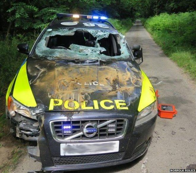 84418956 volvo 1 A Man Driving A Dumper Truck Went On A Two Hour Rampage