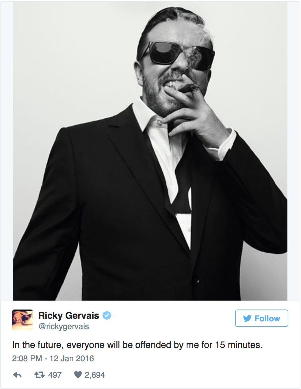 Mj5xn9z Did Ricky Gervais Go Too Far At The Golden Globes Or Are People Oversensitive?
