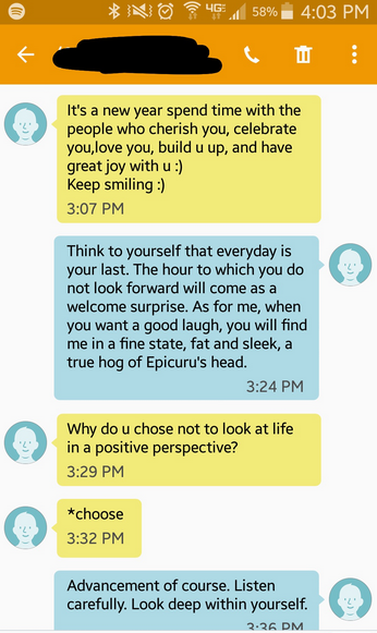 Guy Thinks Hes Texting Girl, Gets Hilariously Trolled By Hannibal Lecter Screen Shot 2016 01 20 at 15.32.29