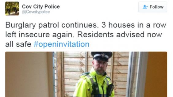 Police Have Been Going Into Peoples Homes And Tweeting Pictures coventry police.2