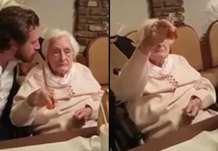 The Ridiculously Awkward Moment A German Grandma Keeps Toasting Hitler german gran fb thumb 1