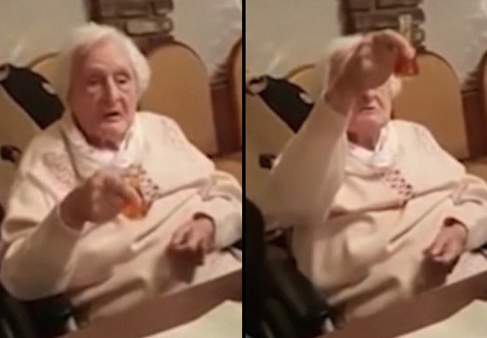 The Ridiculously Awkward Moment A German Grandma Keeps Toasting Hitler gran 1
