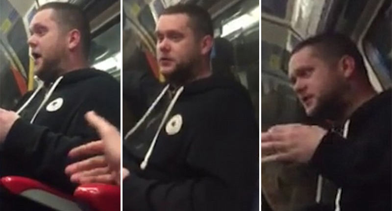 homophobe tube FB Watch Tube Passenger Stand Up To Ranting Homophobe On New Years Eve