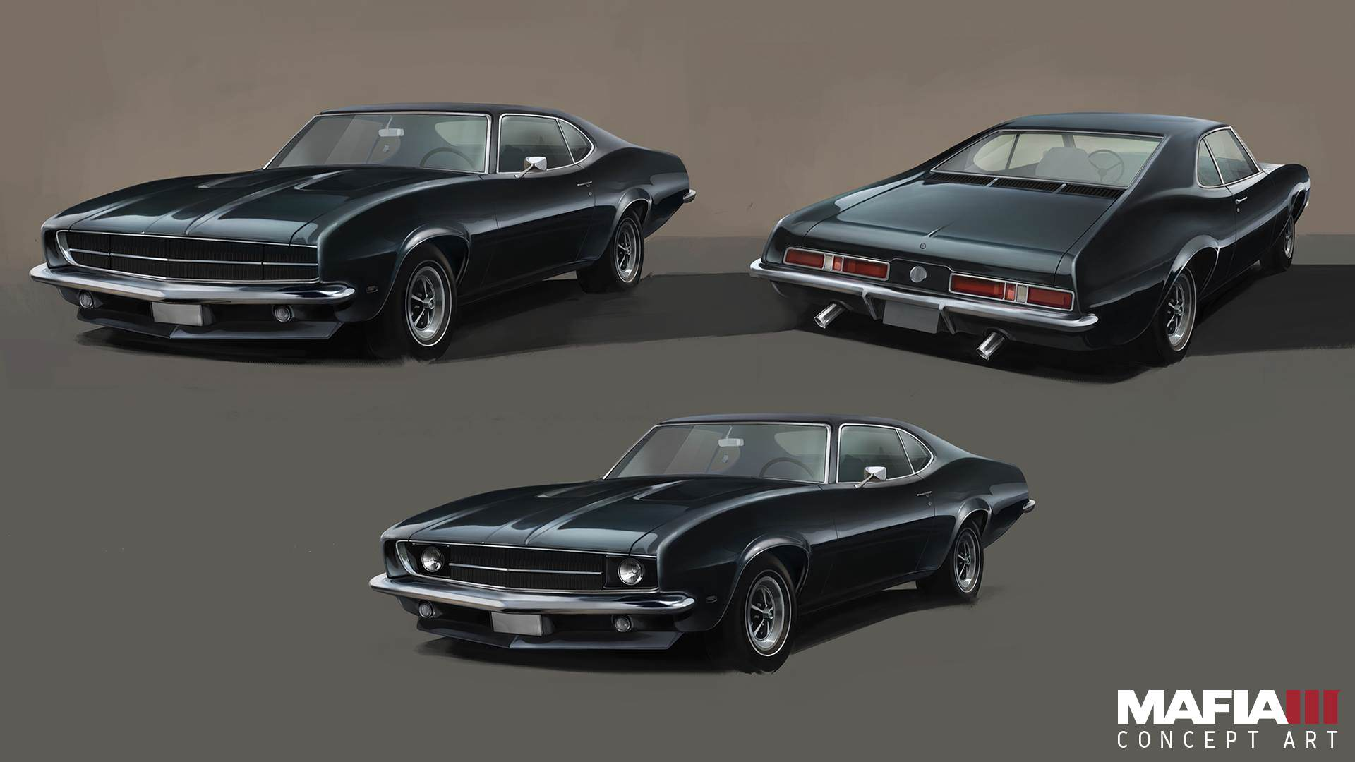 mafia3 lincolns muscle car artwork Check Out Every Awesome Piece Of Mafia 3 Concept Art Released