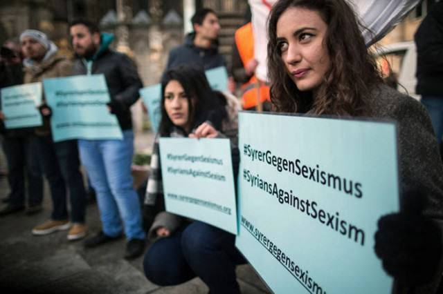 Thousands Of Syrian Refugees Protest Against Sexism After Cologne Attacks