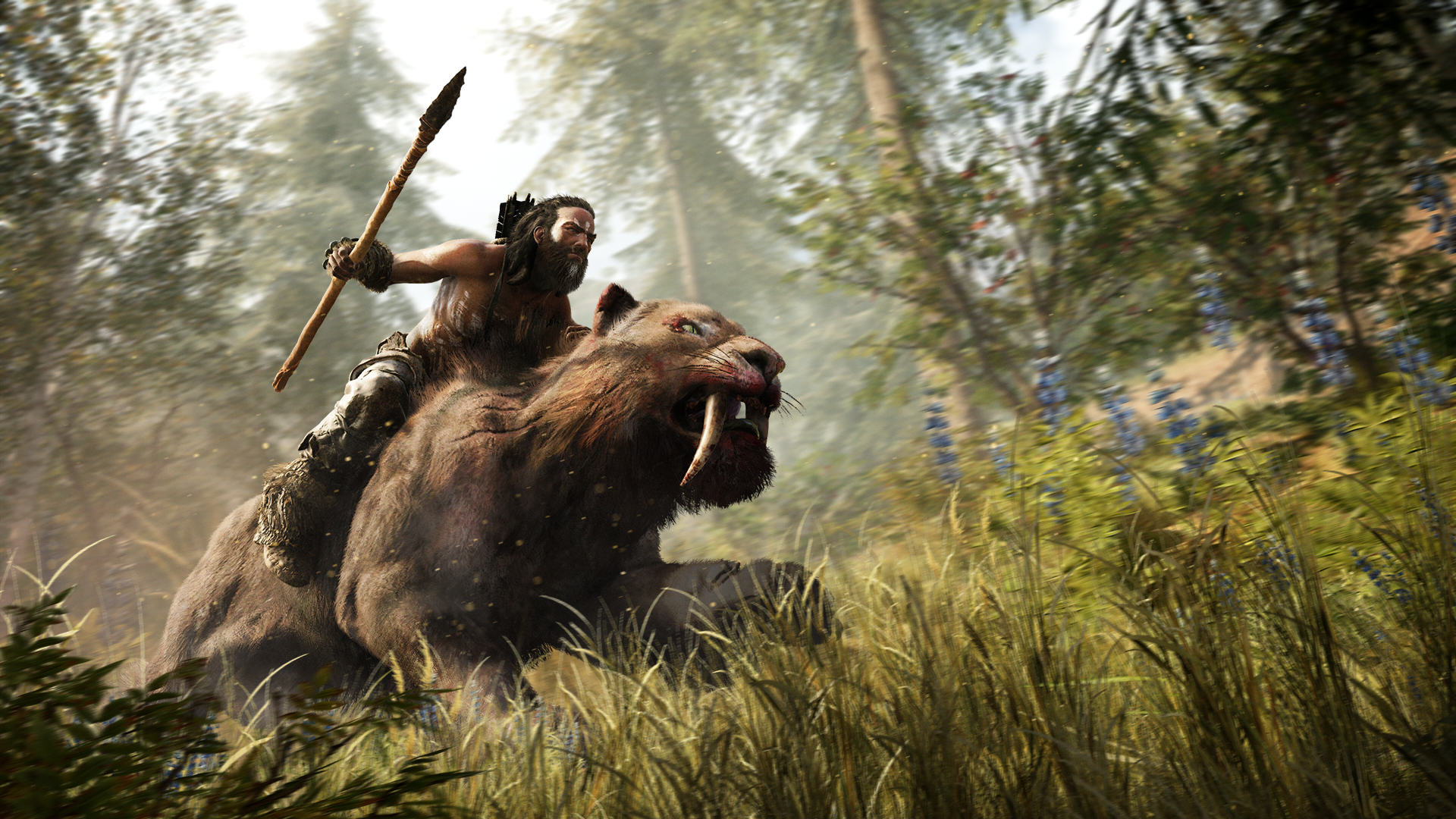 Far Cry Primal Is Shameless Pre Historic Fun, If A Little Shallow FCP Screen Riding Sabertooth BeastMaster Reveal 151204 5AM CET