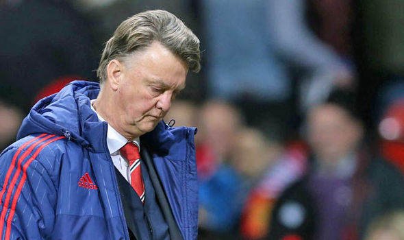 LVG sad Express Five Ways Manchester United Can Spare Their Blushes Tonight