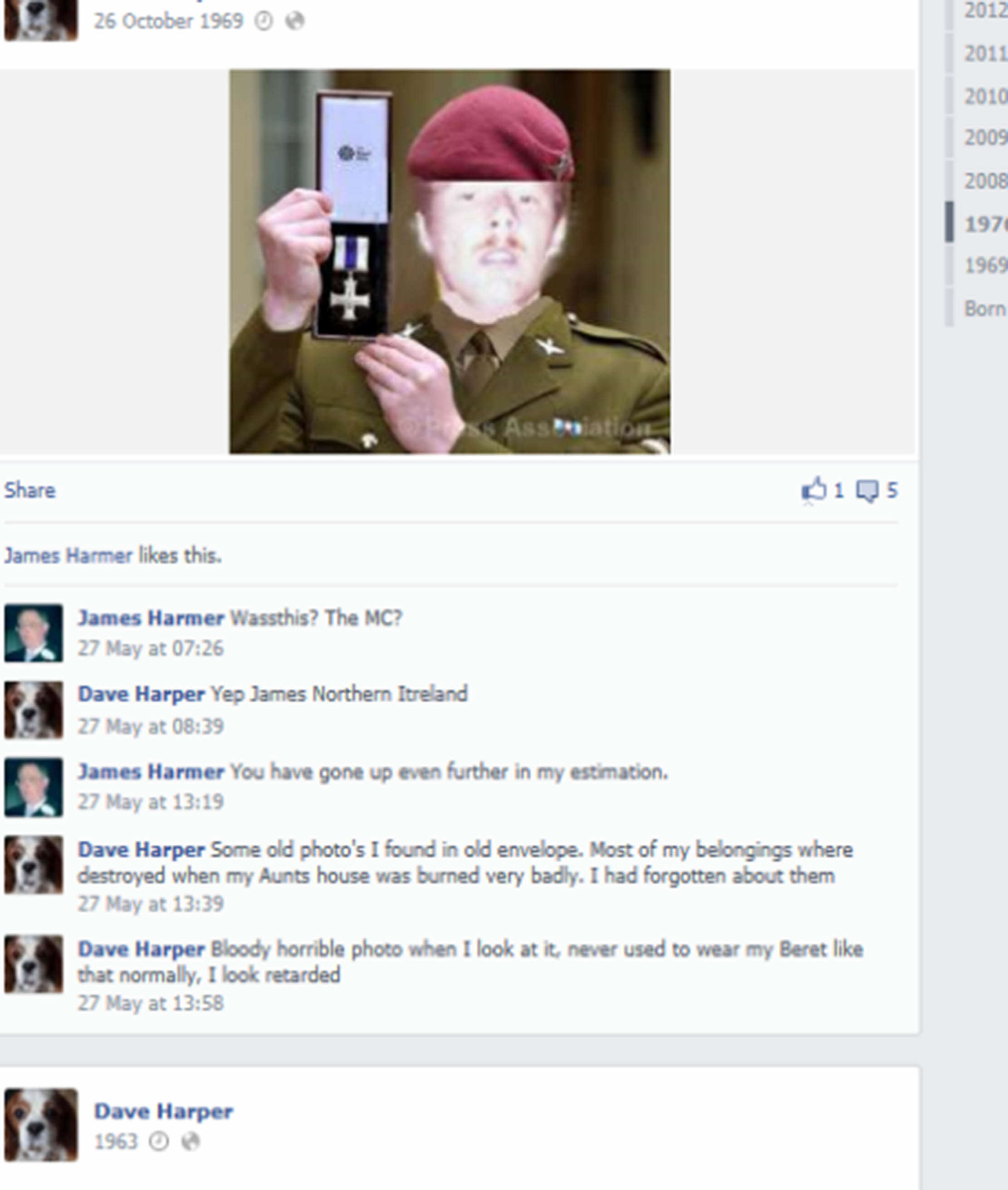 SWNS FAKER 005 1 Guy Pretended He Was Soldier With This Terrible Photoshopped Photo