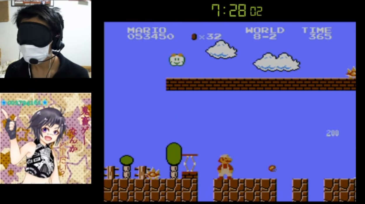 Super Mario Bros blindfold Blindfolded Speed Runner Beats Super Mario Bros In Under 15 Minutes