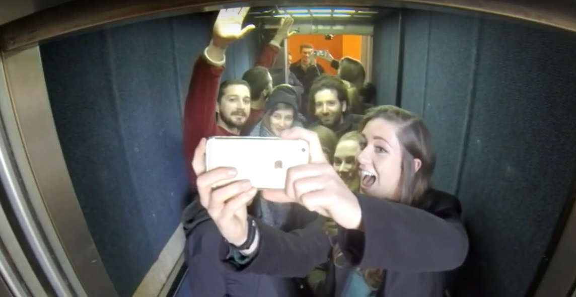 Untitled 1 4 Shia LaBeouf Is Currently Riding Up And Down An Elevator In The UK