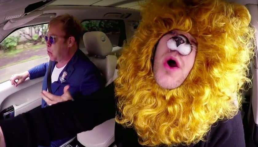 elton7 Elton John And James Corden On Carpool Karaoke Is Just Brilliant
